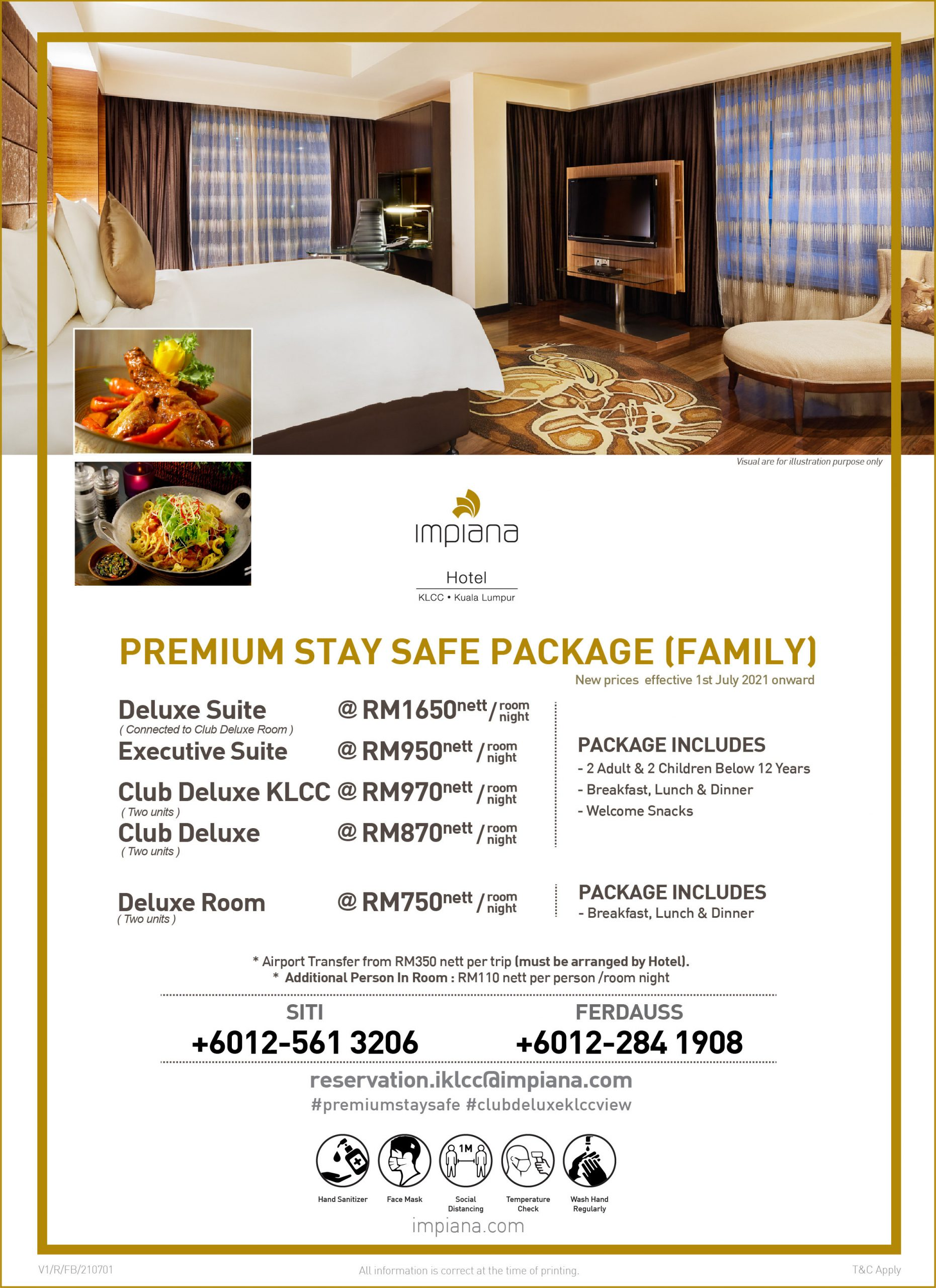 Premium Stay Safe Package (Family)