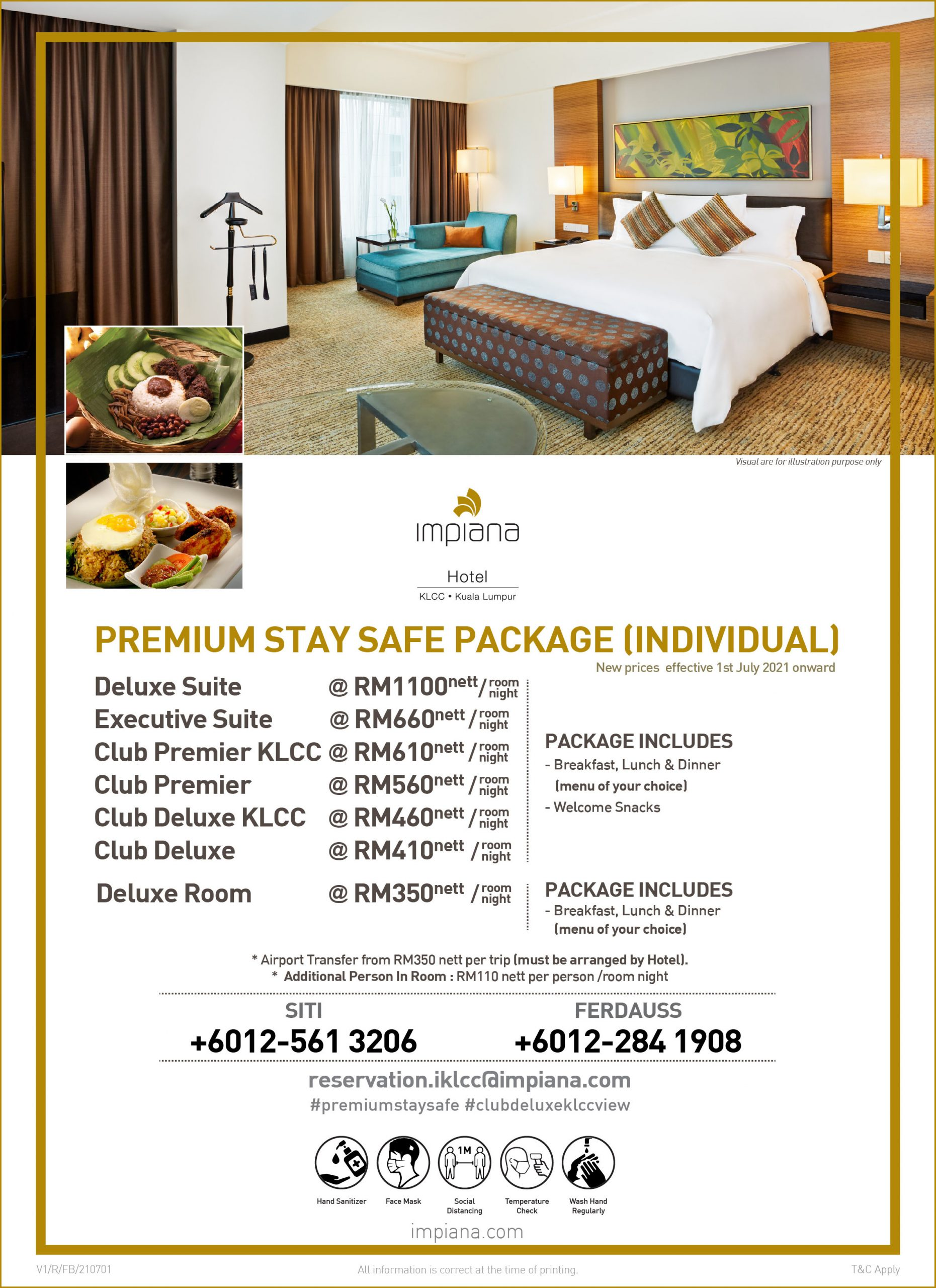 Premium Stay Safe Package (Individual)